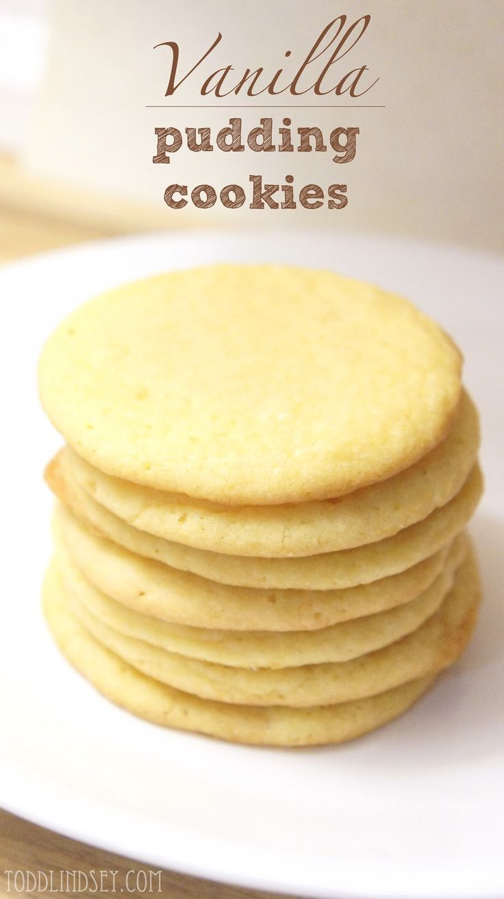 Vanilla Pudding Cookies -- I wonder if I could use any flavor of pudding