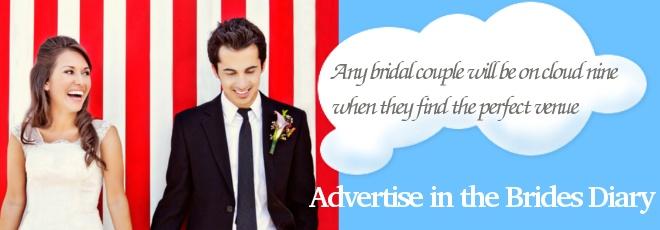 Landing page banner we designed for a Bridal magazine