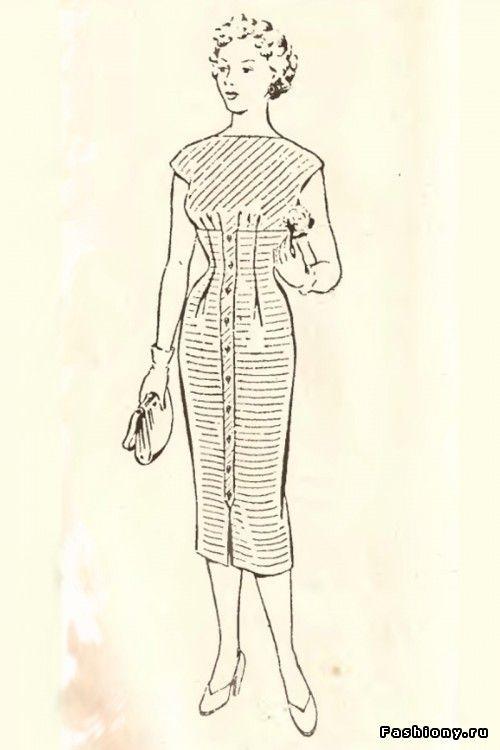 Платья 50-ых годов / платья в стиле 50 х