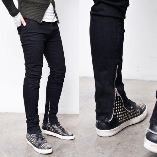 Silver Zip Leg Spandex Black Vintage Jeans 262 via SNEAKERJEANS STREETWEAR SHOP