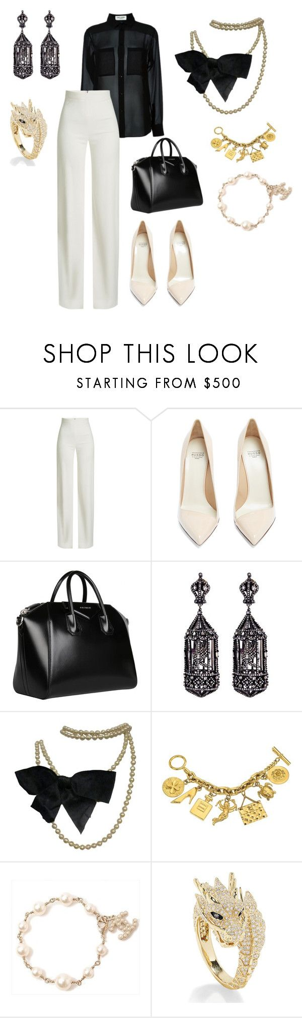 """Untitled #312"" by iamgae on Polyvore featuring Yves Saint Laurent, Brandon Maxwell, Francesco Russo, Givenchy, Amrapali, Chanel and Effy Jewelry"
