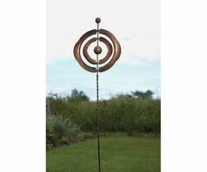 Concentric Kinetic Spinner WindSpinner Garden & Yard Sculpture