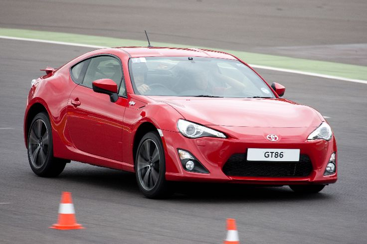 A road-spec GT86 takes on a Silverstone corner