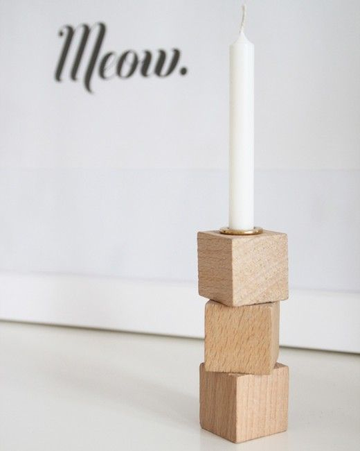DIY Building Block Candleholders by Snug