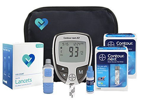 OWell Bayer Contour NEXT Complete Diabetes Blood Glucose Testing Kit, EZ METER, 100 Test Strips, 100 Lancets, Lancing Device, Control Solution, Manual, Log Book & Carry Case ** Check out the image by visiting the link.