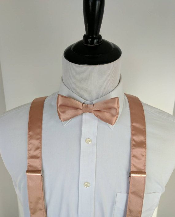 no sale tax new product top fashion Rose Gold Bow Tie and Suspenders, Rose Gold Wedding, Men's ...