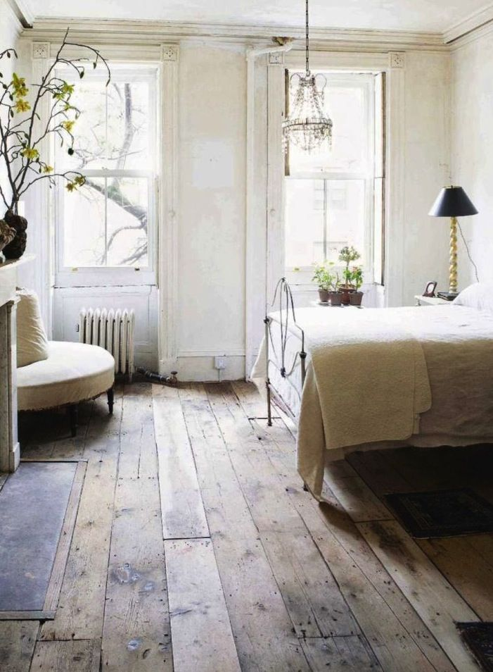 Beautiful floors! This reminds me so much of my bedroom in the farmhouse we lived in when I was in high school.