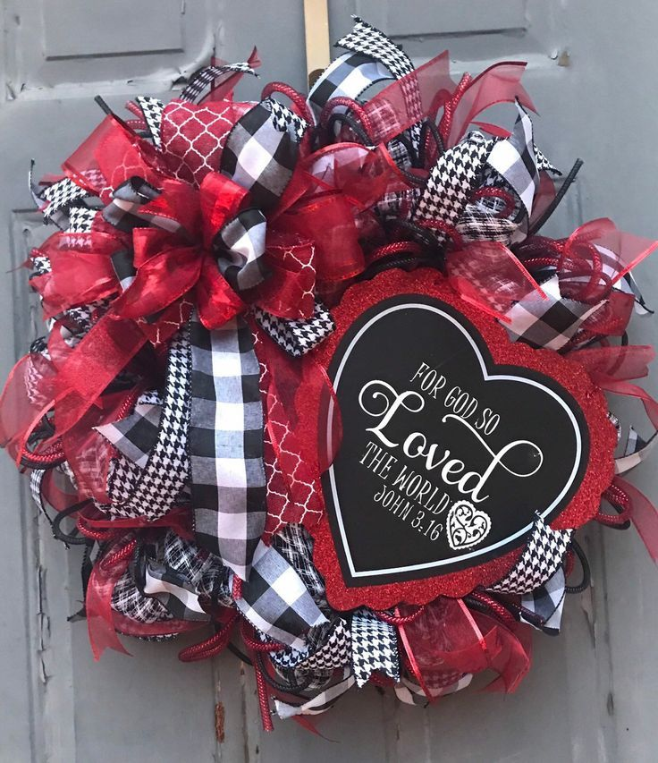 Excited to share this item from my #etsy shop: Valentine Wreath, Happy Valentine's Day Wreath, Valentine's Day Front Door Wreath, Heart Wreath, Christian Wreath, valentine's decor #homedecor #cupidwreath #lovedecor #heartdecor #elegantvalentinewr #frontporchwreath #frontdoorwreath #valentinedecor