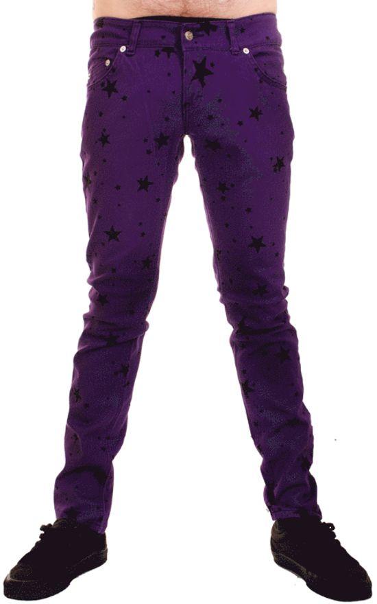 Dark purple skinny jeans for guys