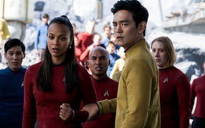 Scarica sfondi il tenente uhura, john cho, 2016, zoe saldana, fiction