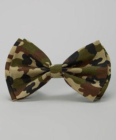 Look at this #zulilyfind! Green Camo Bow Tie by Charla's Place #zulilyfinds
