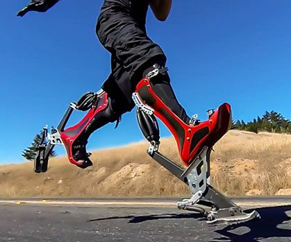 Perform superhuman feats with tremendous ease by strapping on a pair of bionic boots. Once you put on these high tech boots, your physical capacity greatly increases by allowing you to travel at accelerated speeds with maximum agility and efficiency.
