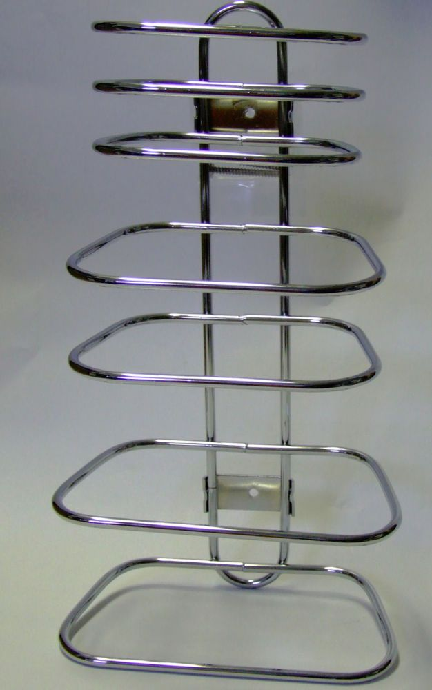 CHROME HOTEL TOWEL RACK FOR 2 GUESTS #dl