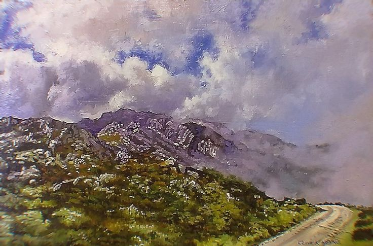 #3 -  View on the Swartberg Pass- 400 x 600mm (16 x 24inches) unframed oils & brush on block mounted board- Total price including delivery by AIRPOST = $250 . ..Customer to forward delivery address by e-mail to: clivekheyne@gmail.com.  Thank You