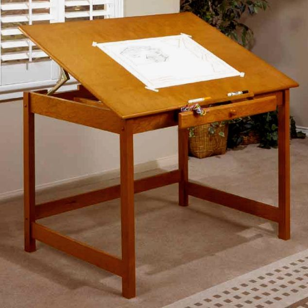 Shaker Solid Maple Drafting Table