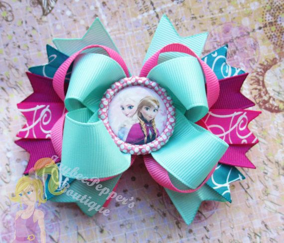 Disney Princess hair bow girls party favor hair by JaybeePepper