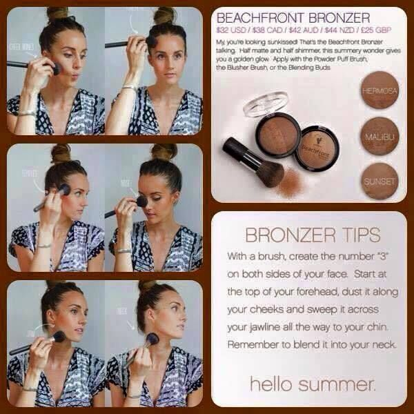 Do you love Bronzer? I know I do and here is a great tip for the best look. I love my Beachfront Bronzer by Younique, in sunset for me! www.youniquelynanette.com
