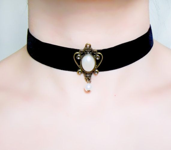 Hey, I found this really awesome Etsy listing at https://www.etsy.com/listing/125687729/sale-black-velvet-lace-choker-necklace