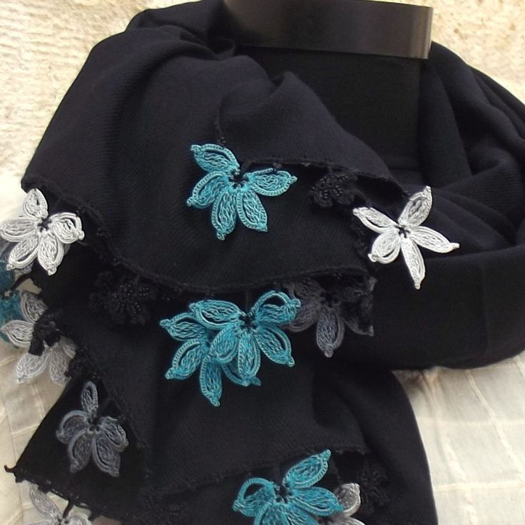 Turkish OYA Lace - Pashmina stole - Scarf Shawl For Her Gift For Women Winter Scarf Women Fashion Accessories by DaisyCappadocia on Etsy