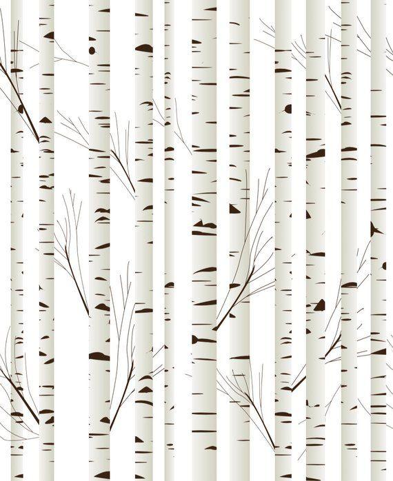 Birch Tree Removable Wallpaper Birch Tree Wallpaper Tree Wallpaper Nursery Tree Removable Wallpaper