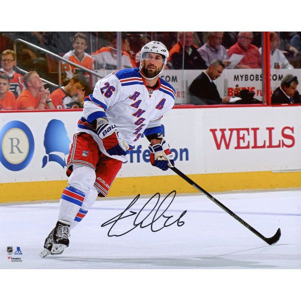 "Jarret Stoll New York Rangers Fanatics Authentic Autographed 8"" x 10"" White Jersey Skating Photograph - $14.99"