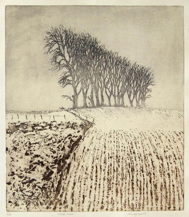 Edinburgh Printmakers Winter Dusk by John Heywood £200.00