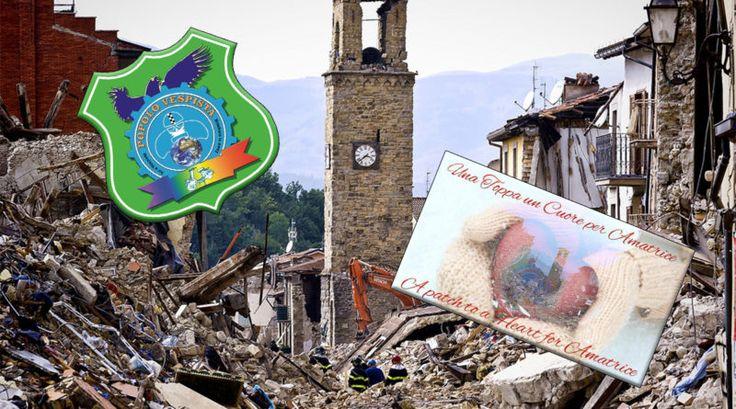 Una toppa, un cuore per #Amatrice  #PopoloVespista #Vespa #Terremoto #Beneficienza