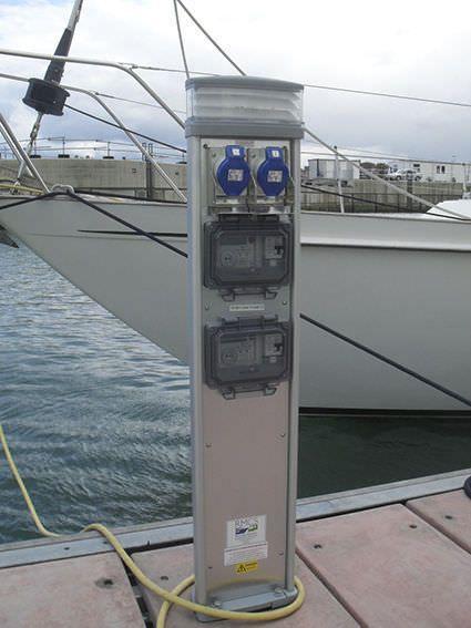 Electrical distribution pedestal / with built-in light / for docks - STERLING - Rollins Marine & Caravan Services
