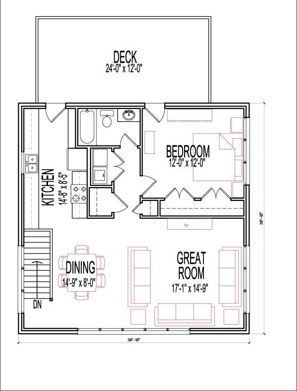 1 Bedroom 2 Story 900 SF House Plans Apartment Over Garage Prairie Style  Atlanta Augusta Macon