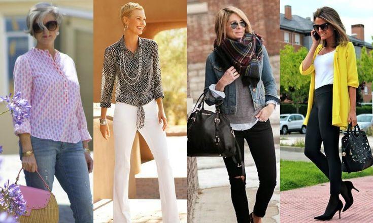 Moda para Mujeres de 40 AÑOS, 50 AÑOS y Más !!!    OUTFITS IDEAS