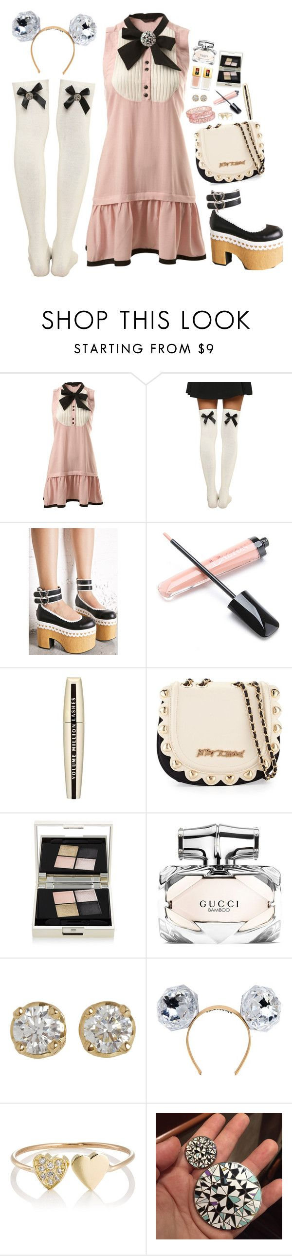 """""""-"""" by m-bot ❤ liked on Polyvore featuring Miss Selfridge, Sugarbaby, Yves Saint Laurent, L'Oréal Paris, Betsey Johnson, Smith & Cult, Gucci, Hoorsenbuhs, Piers Atkinson and Jennifer Meyer Jewelry"""