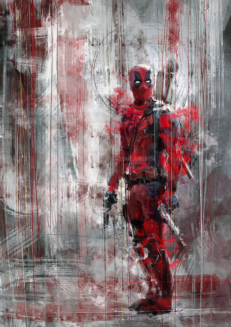 This Deadpool speed painting