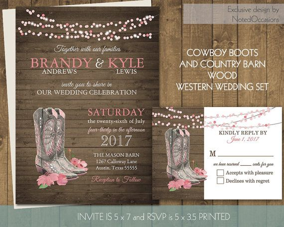 18 best images about western wedding invitations on pinterest, Wedding invitations