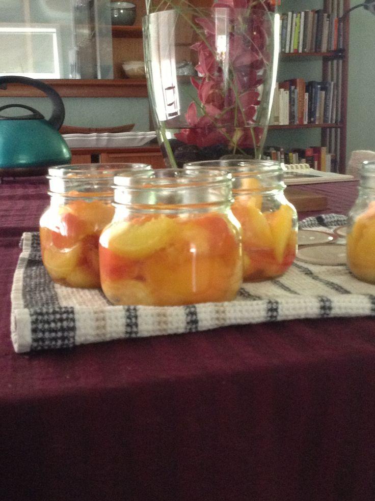 Brandied peaches
