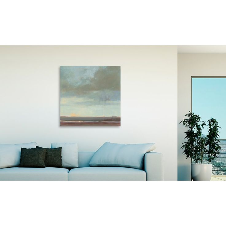 Gallery Direct Kim Coulter 'Viridian Sky II' Oversized Canvas Art   Overstock.com Shopping - The Best Deals on Gallery Wrapped Canvas