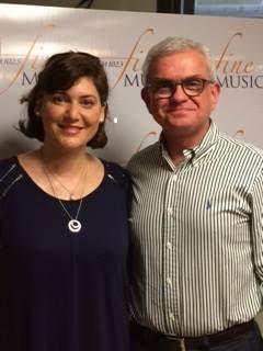 Australian-Swiss flautist Bridget Bolliger with Peter Kurti