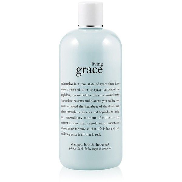 Philosophy Living Grace Gel-16 oz. ($20) ❤ liked on Polyvore featuring beauty products, bath & body products, body cleansers, fillers, beauty, makeup, blue fillers and cosmetics