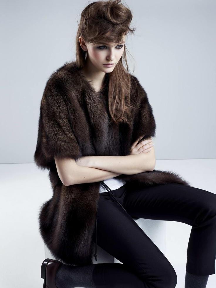 Fur coat from METEO  by YVES SALOMON