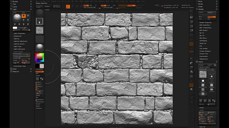 ZBrush Tileable Textures 03 - Lighting