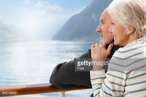 Stock Photo : Loving Couple on Cruise Ship
