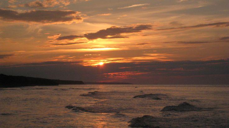 Sunset off a North Rustico Beach in Prince Edward Island.