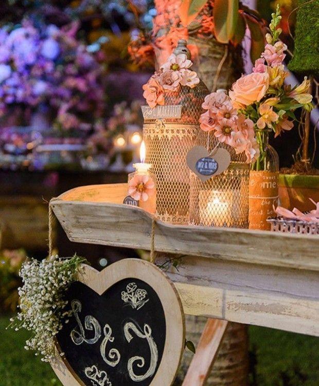 Detalhes da decoração do casamento de Jayme Matarazzo e Luiza Tellechea (Foto: Reprodução/Instagram)