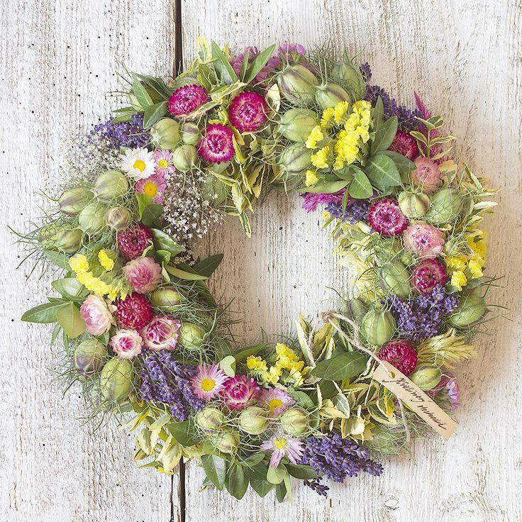 Colorful floral wreath, naturdecor