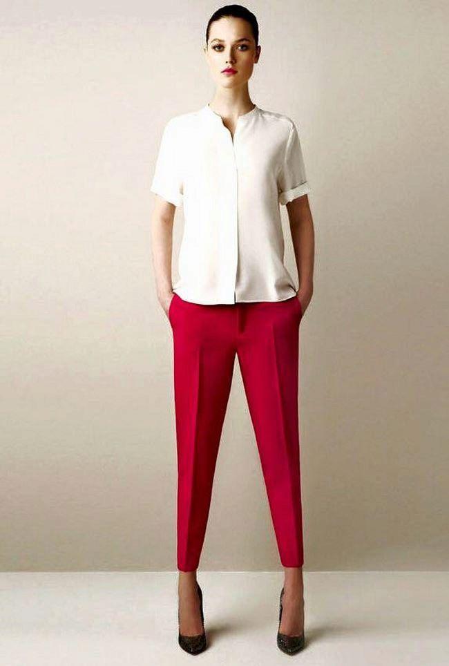 Модные брюки 7 8 для полных женщин 2018 (57 фото)  d0eb7cfd697d6