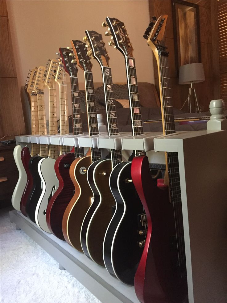 Some of my guitars on custom made guitar stand designed by myself