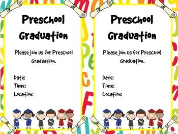 pre k graduation certificates invitations and memory book end of