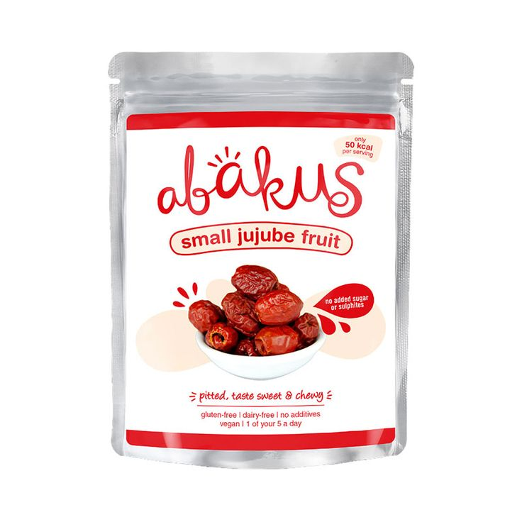 Abakus Small Jujube Fruit 40g. Our jujube fruits taste sweet, soft and chewy. This superfood is packed with antioxidants and phytonutrients, and are known to help uplift the mood, calm the mind, improve sleep, and boost the immune system. They are beneficial for overall health and vitality. The fresh fruit has 20x more vitamin C than citrus fruits!  Enjoy the jujube fruit as a snack, or as a natural sweetener in porridge, cooking, baking, smoothies.