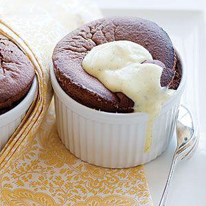 Flourless chocolate soufflé