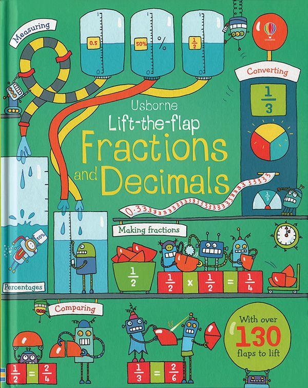 Lift-the-Flap Fractions and Decimals - IR  Usborne Books & More @ the Coastal Book Nook.  www.coastalbooknook.com