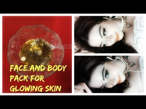 face and body pack for glowing skin for male n female. by dimple d'souza - YouTube